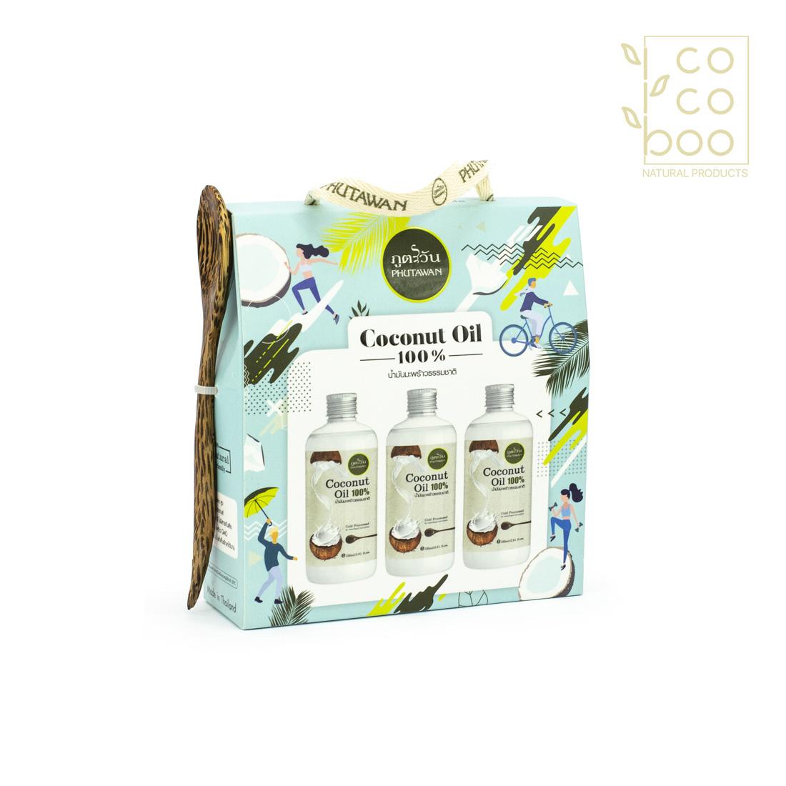 Комплект органично кокосово олио