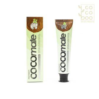 Натурална паста за зъби с избелващо действие с органично стуено пресовано кокосово масло