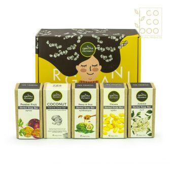 Комплект с 5 натурални сапуна