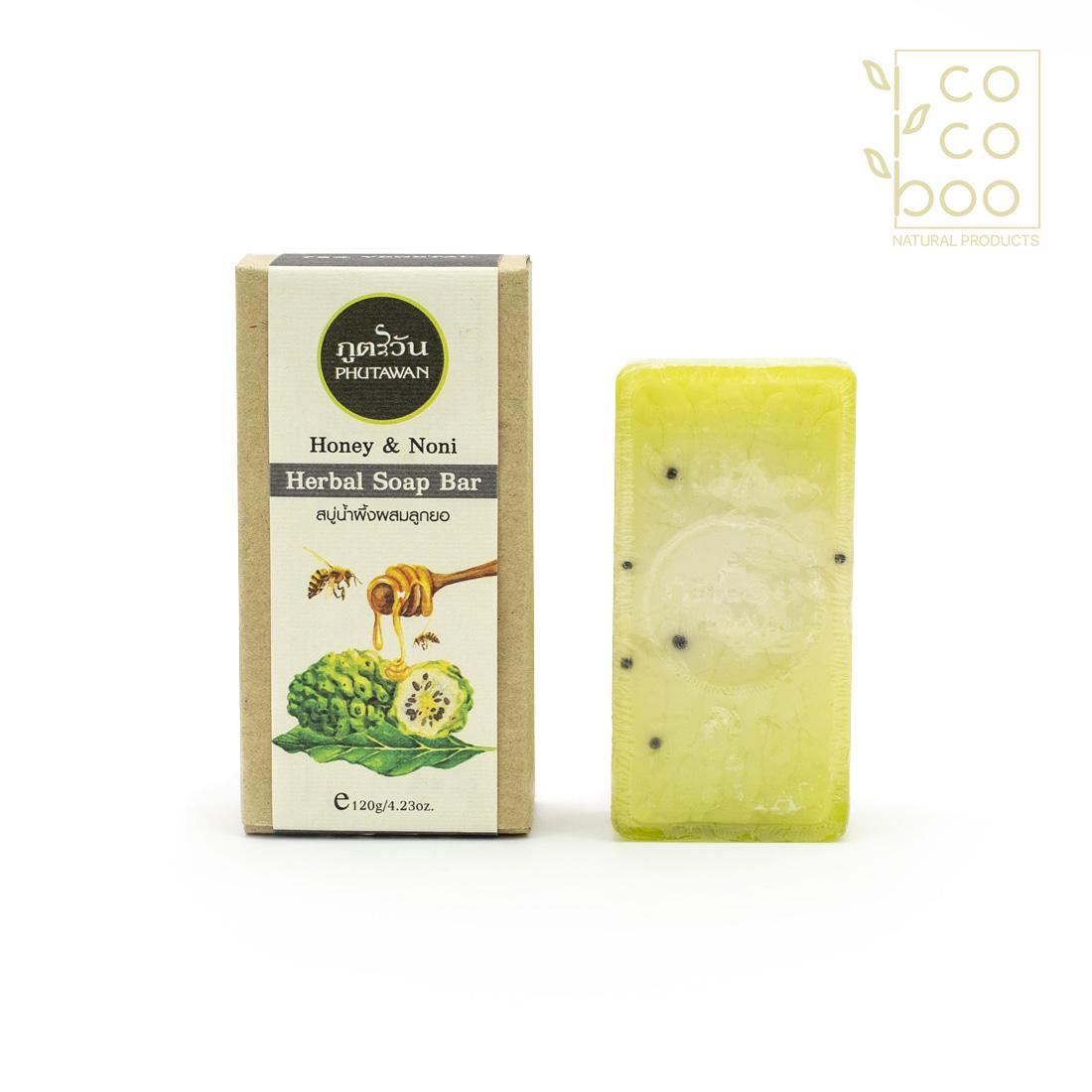 Натурален сапун с мед и нони (индийска черница)
